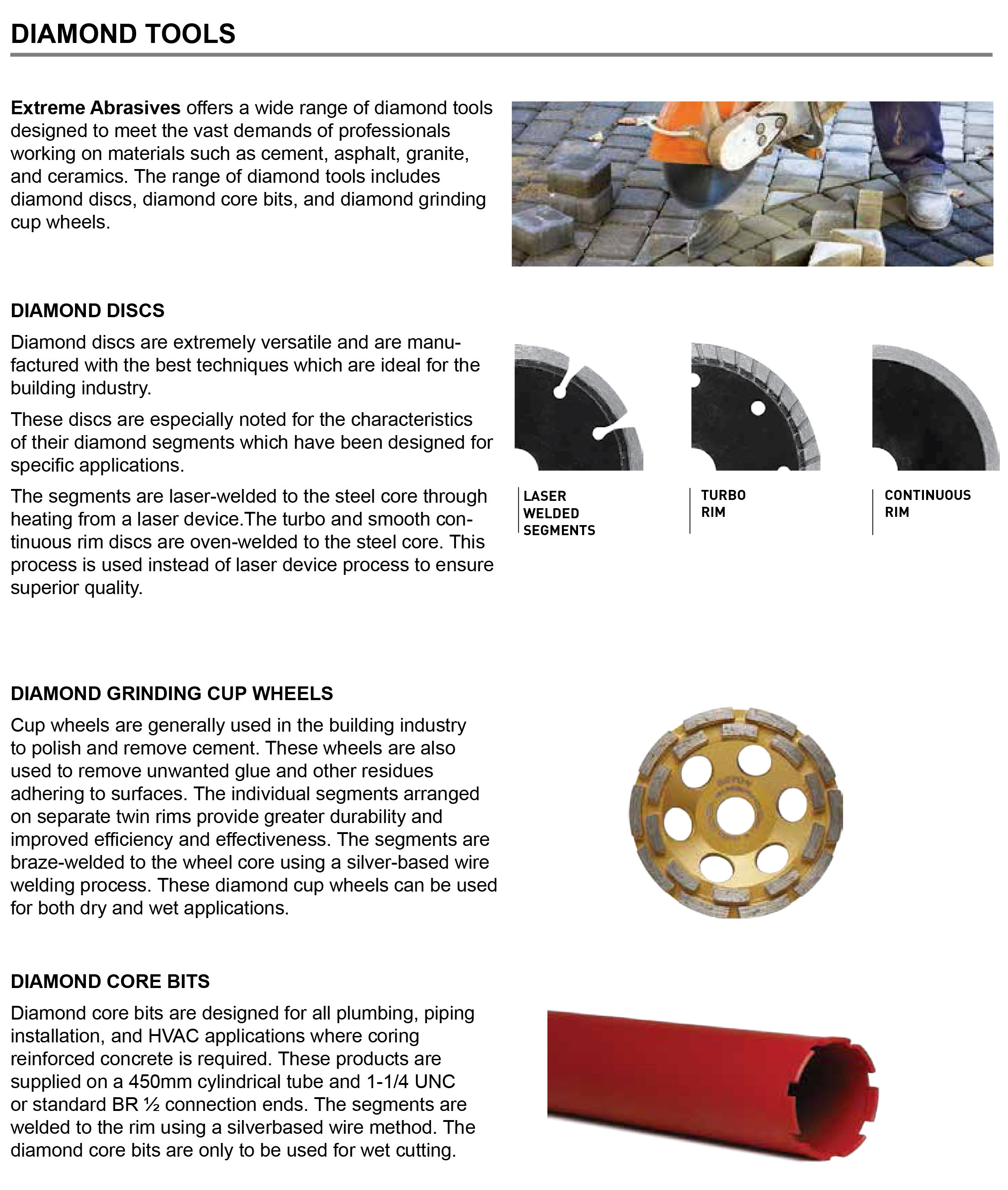 Diamond Tools Application Guide | Extreme Abrasives